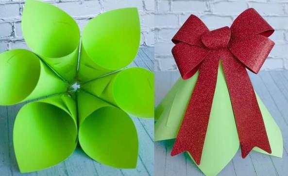 Новогодняя елка из бумажных конусов