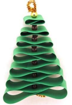 елка из бумаги зеленая