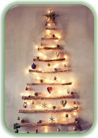 новогодняя елка из прутьев